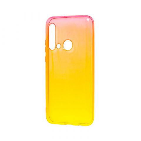 Силиконовый чехол для Huawei P20 Lite 2019 Gradient Design-Red/Yellow