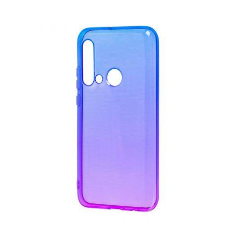 Силиконовый чехол для Huawei P20 Lite 2019 Gradient Design-Violet/Blue