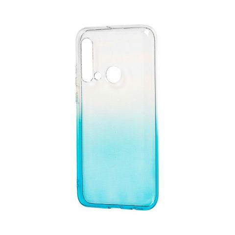Силиконовый чехол для Huawei P20 Lite 2019 Gradient Design-White/Turquoise