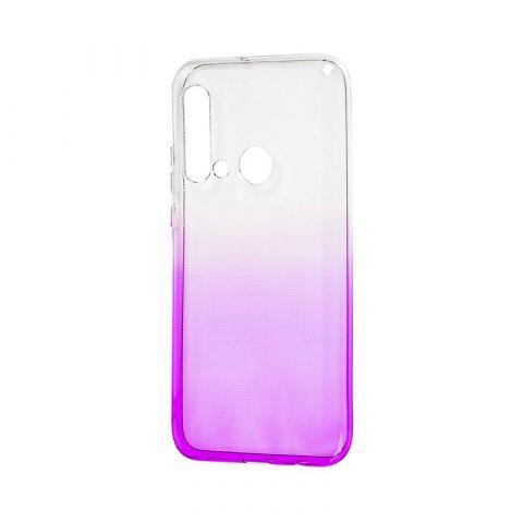Силиконовый чехол для Huawei P20 Lite 2019 Gradient Design-White/Violet