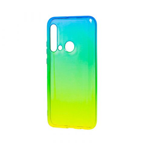 Силиконовый чехол для Huawei P20 Lite 2019 Gradient Design-Yellow/Green