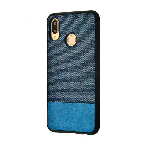 Чехол на Huawei P20 Lite Hard Textile-Gray/Blue