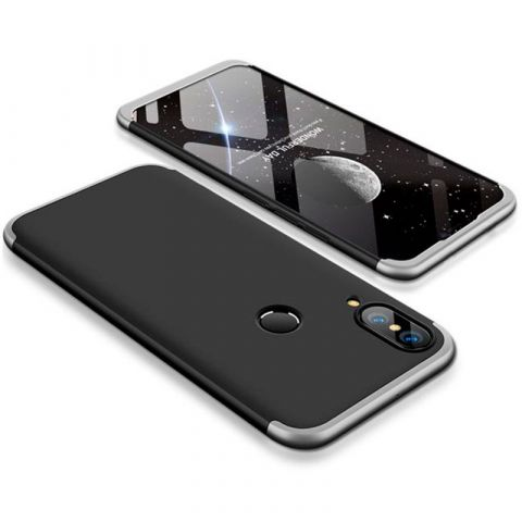 Чехол на Huawei P20 Lite LikGus 360-Black/Silver