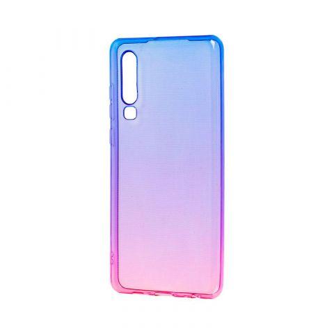 Силиконовый чехол на Huawei P30 Gradient Design-Pink/Blue