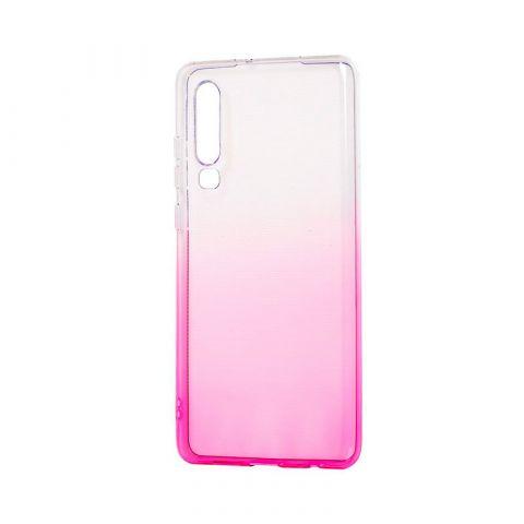 Силиконовый чехол на Huawei P30 Gradient Design-Pink/White