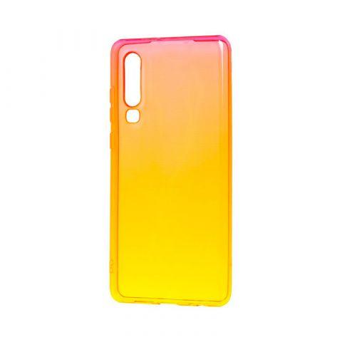 Силиконовый чехол на Huawei P30 Gradient Design-Red/Yellow