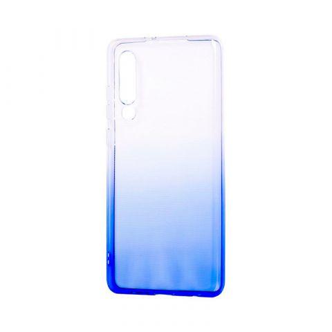 Силиконовый чехол на Huawei P30 Gradient Design-White/Blue