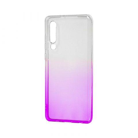 Силиконовый чехол на Huawei P30 Gradient Design-White/Violet
