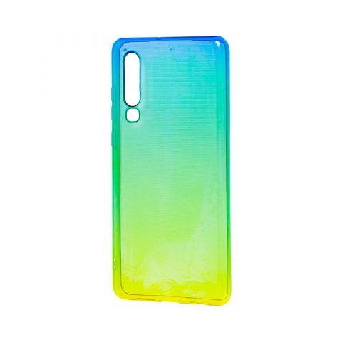 Силиконовый чехол на Huawei P30 Gradient Design-Yellow/Green