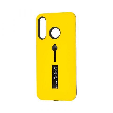 Чехол на Huawei P30 Lite Kickstand-Yellow