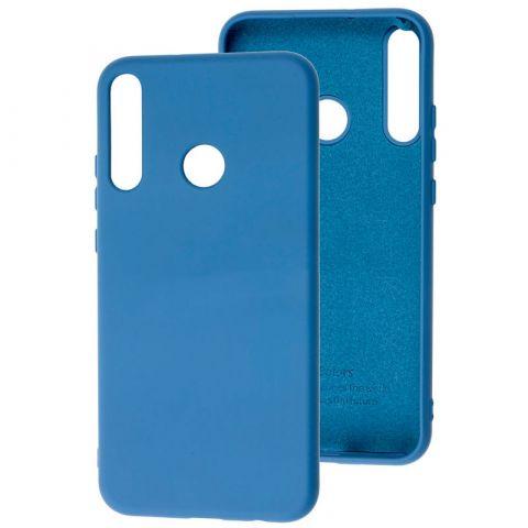 Чехол для Huawei P40 Lite E Silicone Full without Logo-Blue