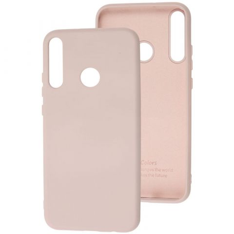 Чехол для Huawei P40 Lite E Silicone Full without Logo-Pink Sand