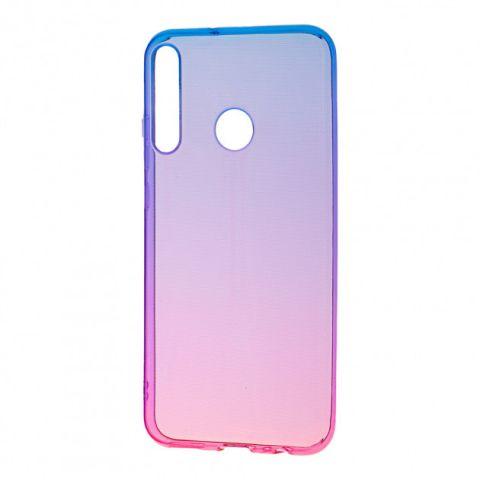 Силиконовый чехол для Huawei P40 Lite E Gradient Design-Pink/Blue