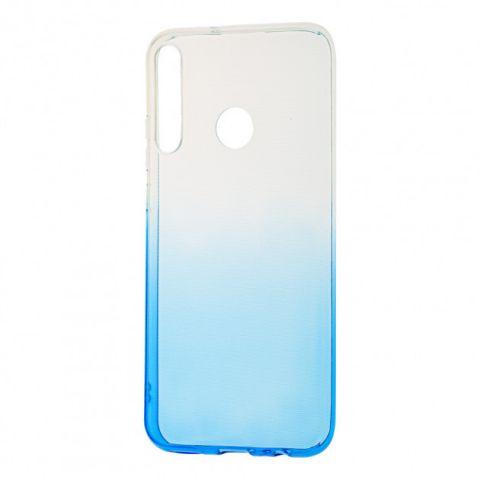 Силиконовый чехол для Huawei P40 Lite E Gradient Design-White/Blue