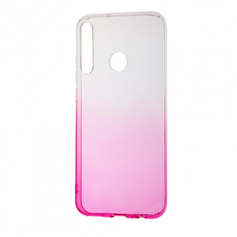 Силиконовый чехол для Huawei P40 Lite E Gradient Design-Pink/White