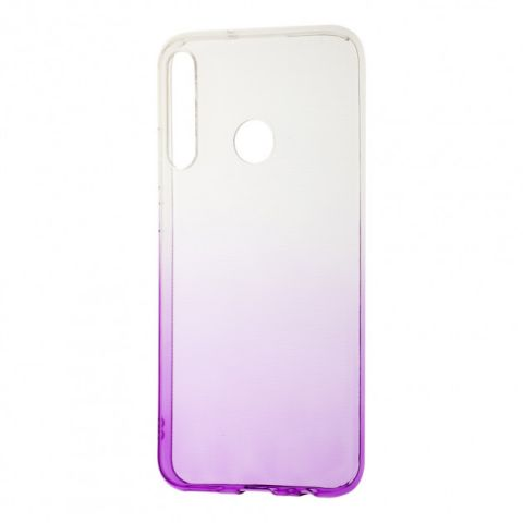 Силиконовый чехол для Huawei P40 Lite E Gradient Design-White/Violet