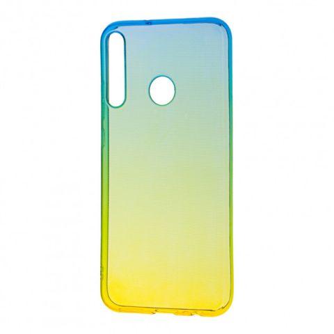 Силиконовый чехол для Huawei P40 Lite E Gradient Design-Yellow/Green