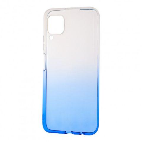 Силиконовый чехол для Huawei P40 Lite Gradient Design-White/Blue
