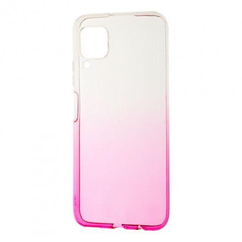 Силиконовый чехол для Huawei P40 Lite Gradient Design-Pink/White