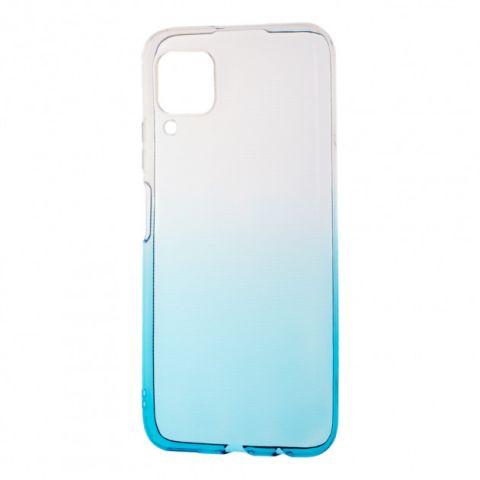 Силиконовый чехол для Huawei P40 Lite Gradient Design-White/Turquoise