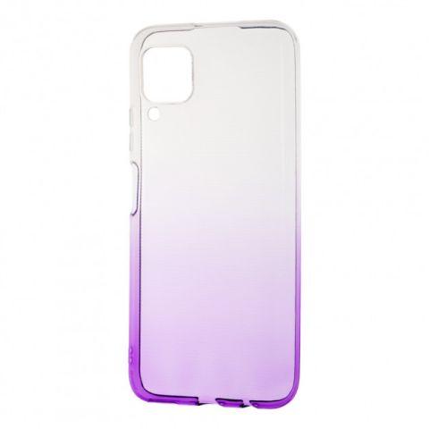 Силиконовый чехол для Huawei P40 Lite Gradient Design-White/Violet