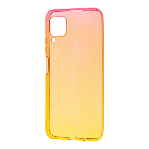 Силиконовый чехол для Huawei P40 Lite Gradient Design-Red/Yellow