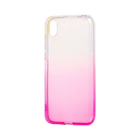 Силиконовый чехол на Huawei Y5 2019 Gradient Design-Pink/White