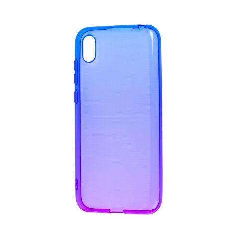 Силиконовый чехол на Huawei Y5 2019 Gradient Design-Violet/Blue