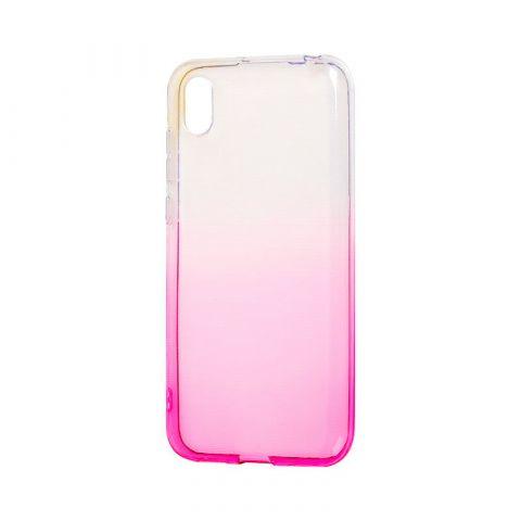Силиконовый чехол на Huawei Y6 2019 Gradient Design-Pink/White