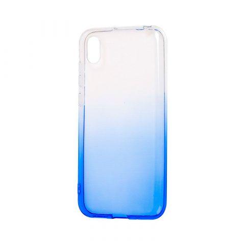 Силиконовый чехол на Huawei Y6 2019 Gradient Design-White/Blue