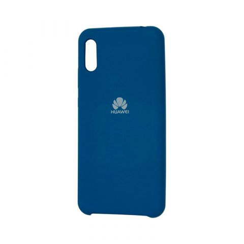 Чехол на Huawei Y6 2019 Soft Touch Silicone Cover-Blue