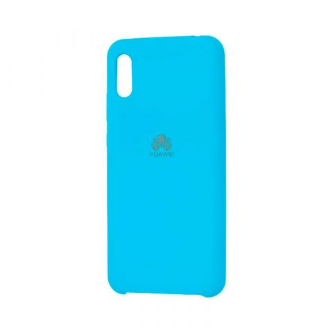 Чехол на Huawei Y6 2019 Soft Touch Silicone Cover-Light Blue