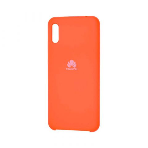 Чехол на Huawei Y6 2019 Soft Touch Silicone Cover-Orange