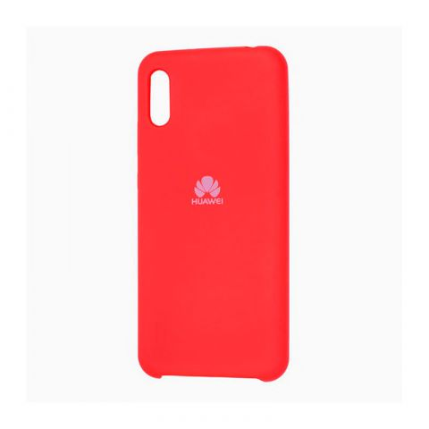 Чехол на Huawei Y6 2019 Soft Touch Silicone Cover-Red
