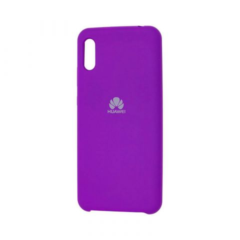 Чехол на Huawei Y6 2019 Soft Touch Silicone Cover-Ultra Violet