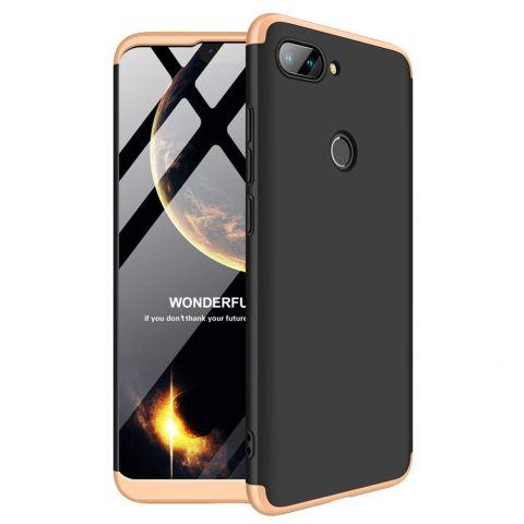 Чехол на Xiaomi Mi 8 Lite LikGus 360-Black/Gold