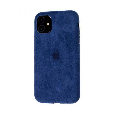 Замшевый чехол для iPhone 11 Alcantara-Midnight Blue