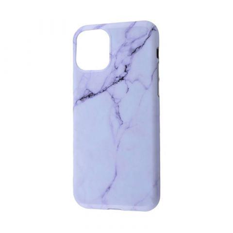 Чехол для iPhone 11 Design Mramor Glossy-Antique White