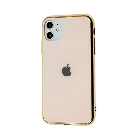 Чехол для iPhone 11 Glass Case Logo-Gold