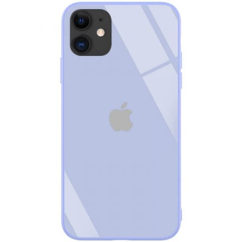 Чехол для iPhone 11 Glass Case Pastel Logo-Lavender Gray