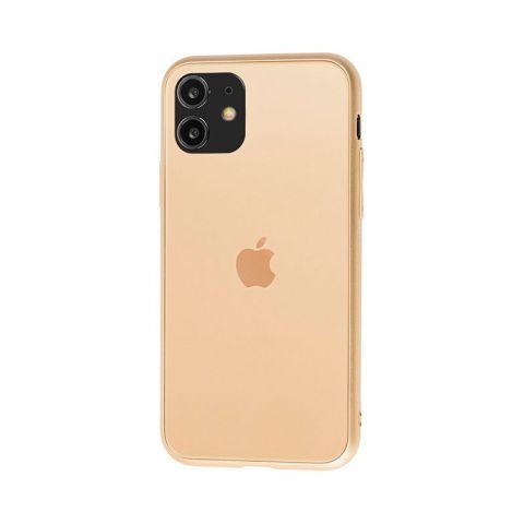 Матовый стеклянный чехол для iPhone 11 Glass TPU Matt-Gold