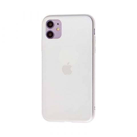Матовый стеклянный чехол для iPhone 11 Glass TPU Matt-White