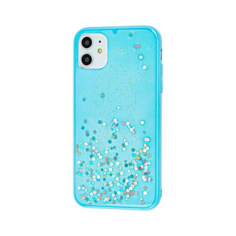 Чехол для iPhone 11 iPefet с блестками-Light Blue
