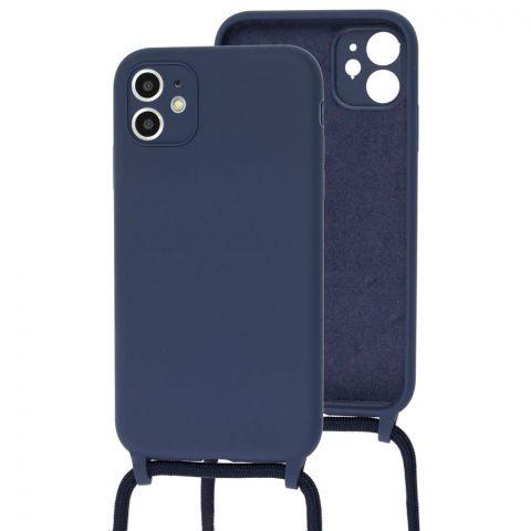 Чехол для iPhone 11 Lanyard Ожерелье со шнурком-Midnight Blue