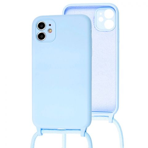 Чехол для iPhone 11 Lanyard Ожерелье со шнурком-Sky Blue