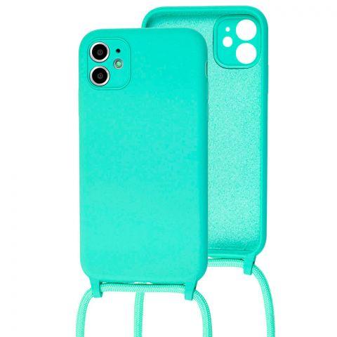 Чехол для iPhone 11 Lanyard Ожерелье со шнурком-Turquoise