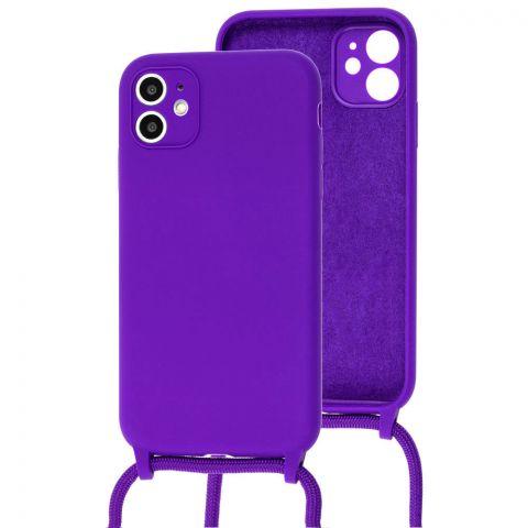 Чехол для iPhone 11 Lanyard Ожерелье со шнурком-Ultra Violet