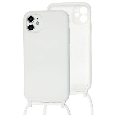 Чехол для iPhone 11 Lanyard Ожерелье со шнурком-White