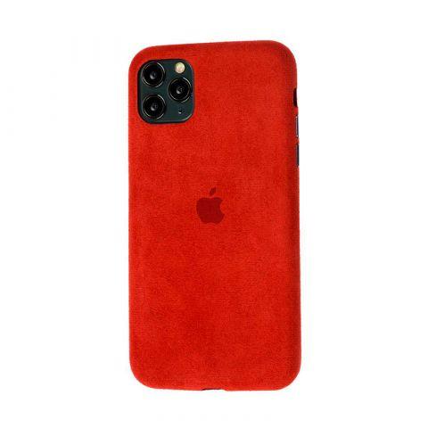 Замшевый чехол для iPhone 11 Pro Alcantara-Red