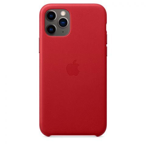 Кожаный чехол для iPhone 11 Pro Leather Case-Red